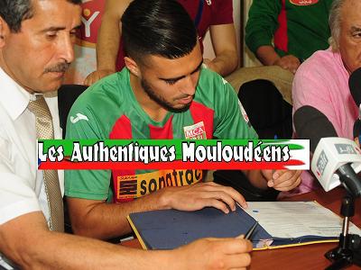 Bouhenna rachid signe son Contrat le liant au Mca