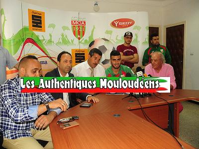 Responsable du Club a la signature du contrat de rachid bouhenna
